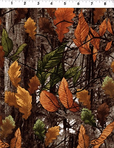 - Timeless Treasures Autumn Flannel Camouflage Fabric