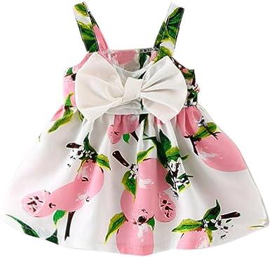 Imagen deK-youth® Vestido de Niña Floral Bowknot Vestido de la Honda Princesa Vestido Bautizo Bebé Niñas Vestidos de Sin Manga Primavera Verano Ropa para 0-24 Meses