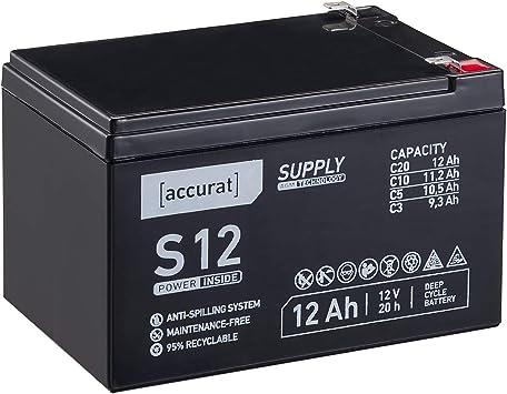 Accurat 12v 12ah Blei Akku Agm Blei Batterie Zyklenfest Elektronik