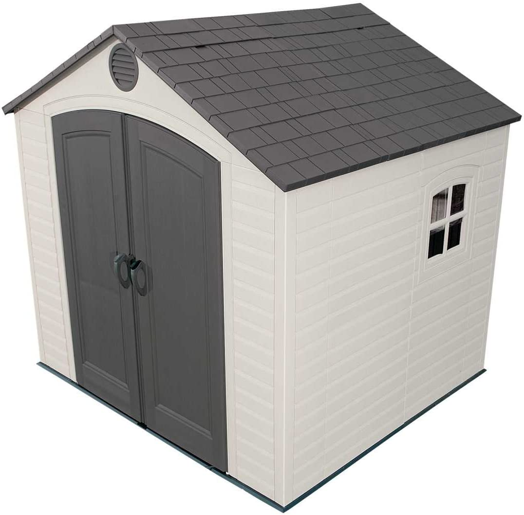 Lifetime 6411 Outdoor Storage Shed with Window, 8 by 7.5 Feet