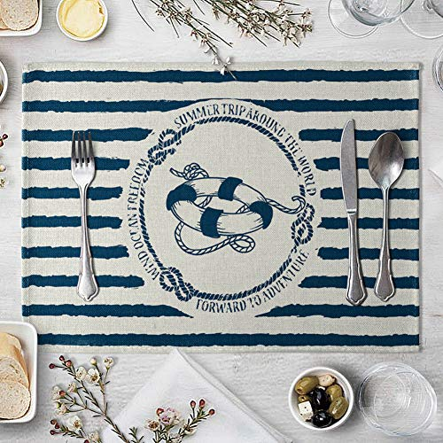 memorytime Fish Rudder Compass Heat Insulated Pad Kitchen Dining Table Mat Placemat Decor Kitchen Dining Supplies - 4# by memorytime (Image #8)