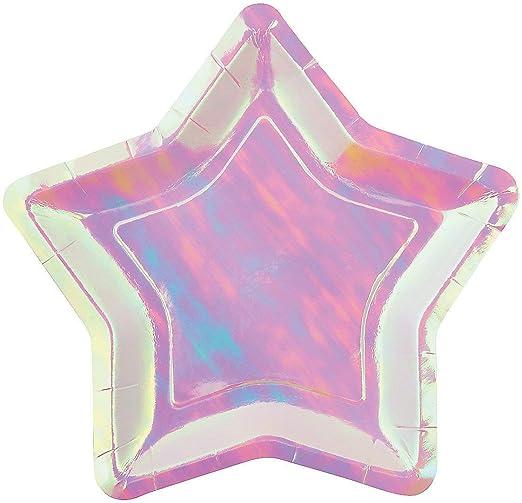 8 per Pack Pink Ninja Dessert Plates - Birthday Party Supplies /& Decorations 8Pc