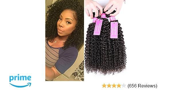 Original Queen 100% Brazilian Unprocessed Virgin Kinky Curly Human Hair  Weave 3 Bundles
