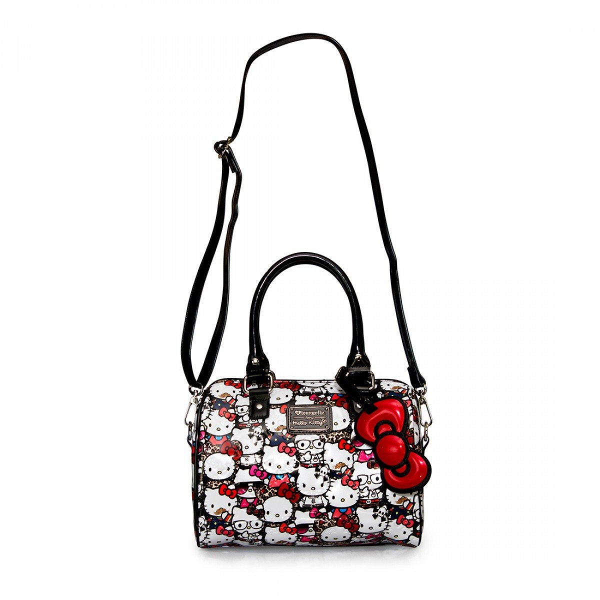 1c9263a237 Loungefly Hello Kitty All Stars Embossed Mini Duffle Cross Body Bag   Amazon.co.uk  Shoes   Bags