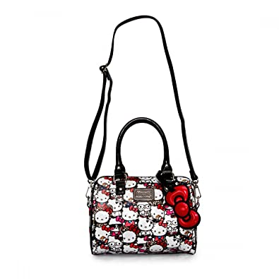 27d0ca090 Loungefly Hello Kitty All Stars Embossed Mini Duffle Cross Body Bag:  Amazon.co.uk: Shoes & Bags