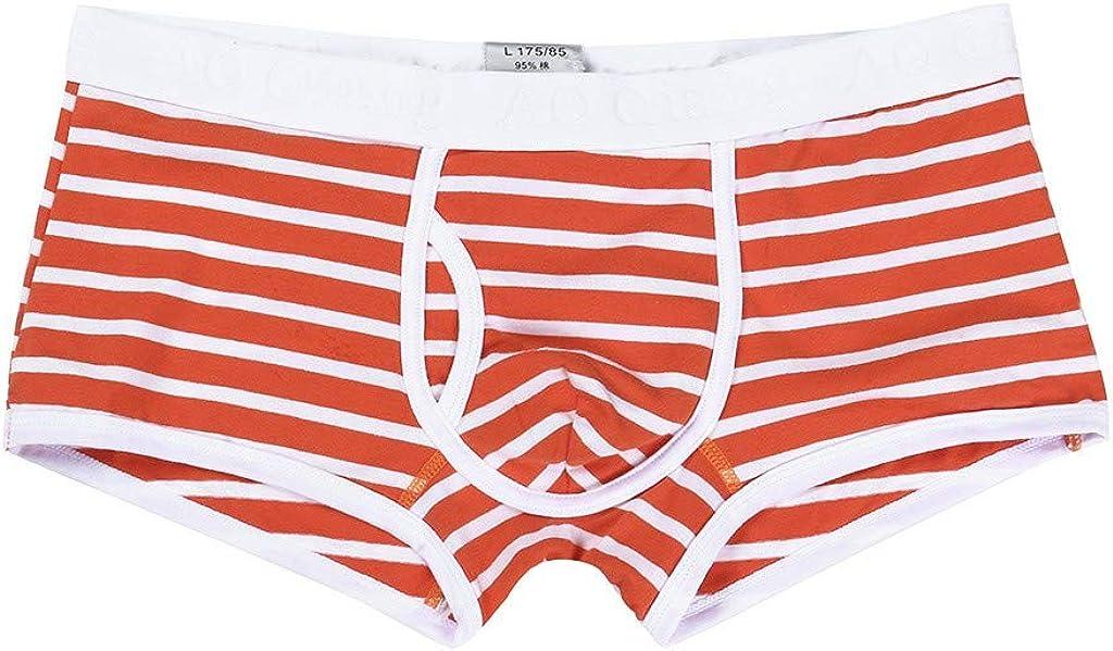 sous-v/êtements Mode Ray/é Coton Sports Casual pour Hommes Haute /élasticit/é Doux Confortable avec Poche Culotte Boxer Mode Respirant Serr/é Slips