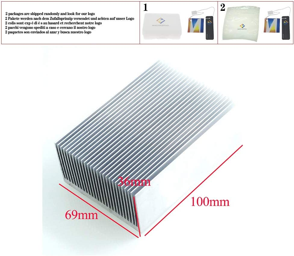 Ultra-Thick Aluminum Radiator Silver 1pcs Heat Sink 1006936MM