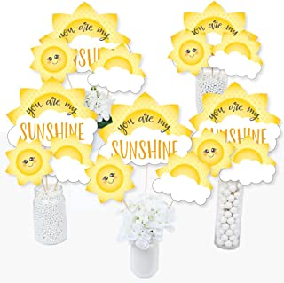 product image for You are My Sunshine - Baby Shower or Birthday Party Centerpiece Sticks - Table Toppers - Set of 15