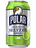 Polar Beverages Seltzer, Lime, 12 Fluid Ounce (Pack of 12)