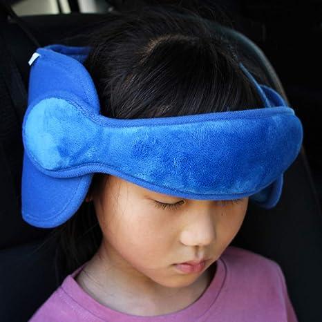 FREESOO Reposacabezas Soporte Cabeza Sujeta Cabezas Coche para Niños Infantil Bebe Seguridad Cinturón de Sujeción Correa