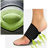 JERN Extra Thick Cushioned Compression Arch Support with More Padded Comfort for Flat and Achy Feet (Unisex)