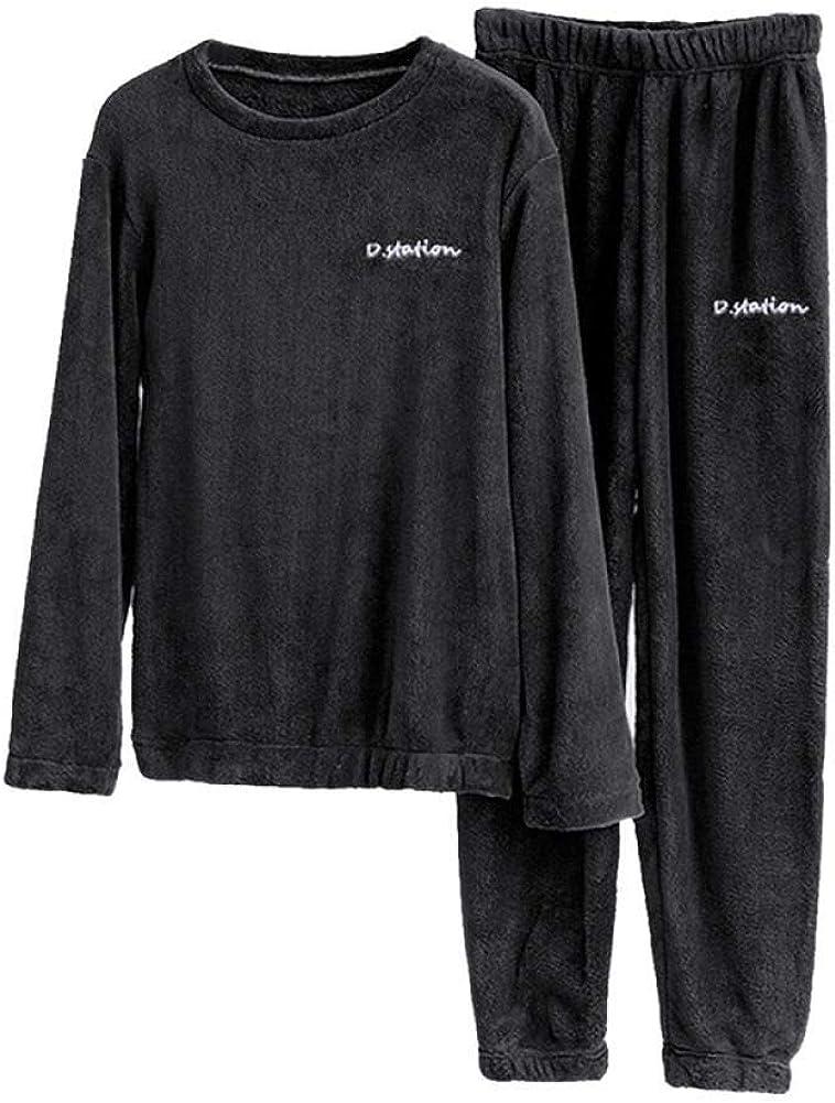 Details about  /Womens  Winter Warm Thick Homewear Sleepwear Pajamas Long-Sleeved Coral Fleece