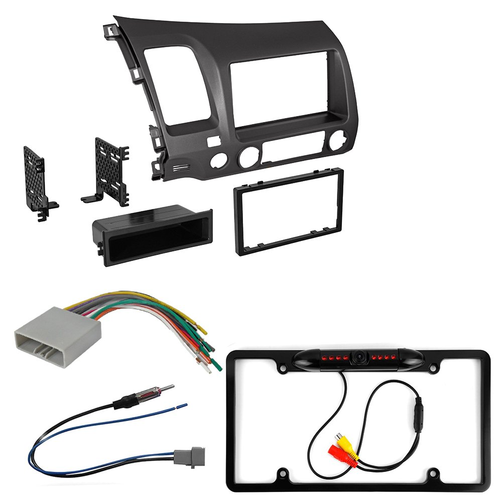 Honda Civic 2006 2011 Car Radio Stereo Cd Player Dash Expert Kit On Installation Wiring Harness Install Mounting Trim Bezel Panel Antenna Adapter Rear Camera