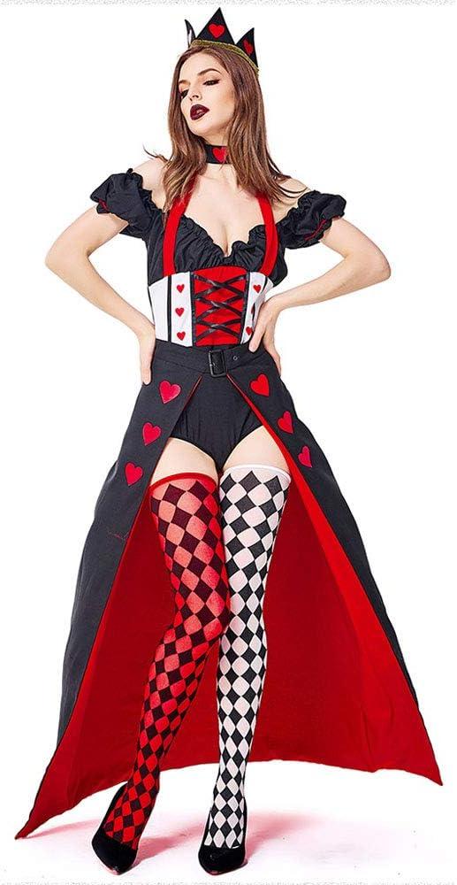 JJAIR Disfraz de Reina de Corazones Wonderland para Mujer, Disfraz ...
