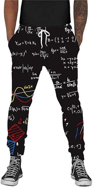 Formula Matematica 3d Funny Joggers Pants Hombres Mujeres Pantalonesfashion Pantalones De Chandal De Hip Hop Pantalon Casual Sweat Pants Amazon Es Ropa Y Accesorios