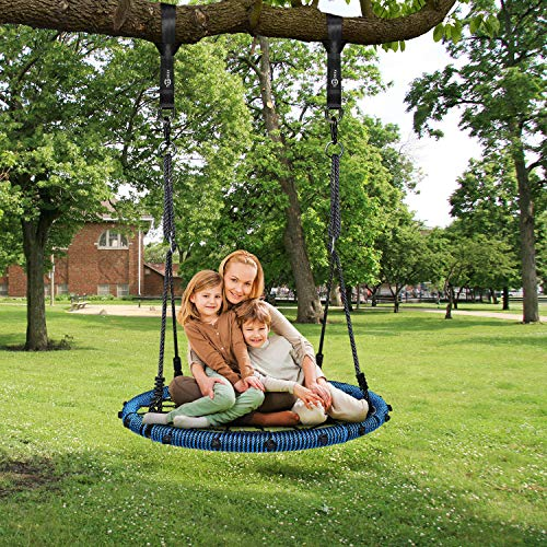 Trekassy 660lb Spider Web Swing 40 inch for Tree Kids with Steel Frame and 2 Hanging Straps by Trekassy (Image #5)