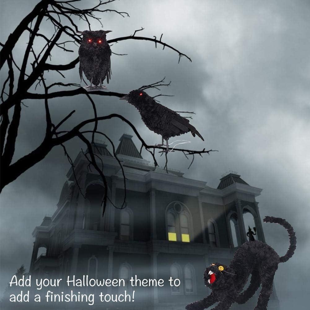 D/écorations dHalloween Halloween maison hant/ée chat rougeoyant Simulation Animal Party Terrorist Atmosph/ère Pendentif Bar D/écoration