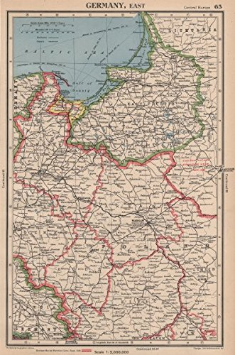 WW2 Poland Showing 1939 Germany-USSR parion line. Danzig Free City on