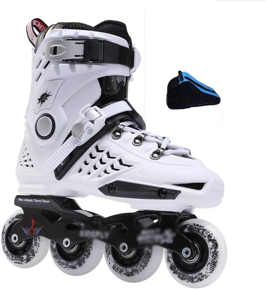 インラインローラースケート大人のフィットネスローラーブレード安全で丈夫な青年屋外レーシングスケート (Color : D, Size : EU 40/US 7.5/UK 6.5/JP 25cm) D EU 40/US 7.5/UK 6.5/JP 25cm