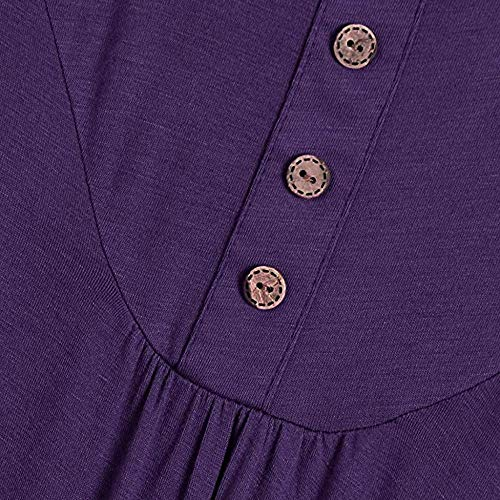 Vjgoal Sports Mangas Cuello Sin Top Verano Mujer Camiseta Tops Moda Púrpura Redondo Casual Sexy Blusa Sólido Tank Color rArqFY