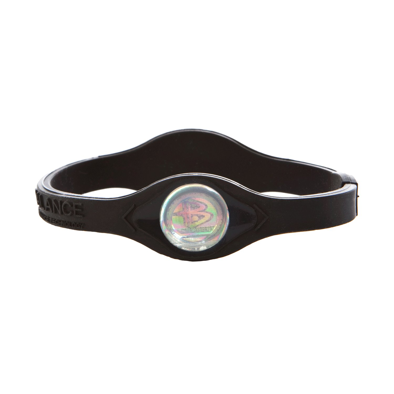 Power Balance Bracelet Black/White Letters size: MEDIUM
