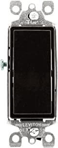 Leviton 5603-2 15 Amp, 120/277 Volt, Decora Rocker 3-Way AC Quiet Switch, Residential Grade, Grounding, Brown