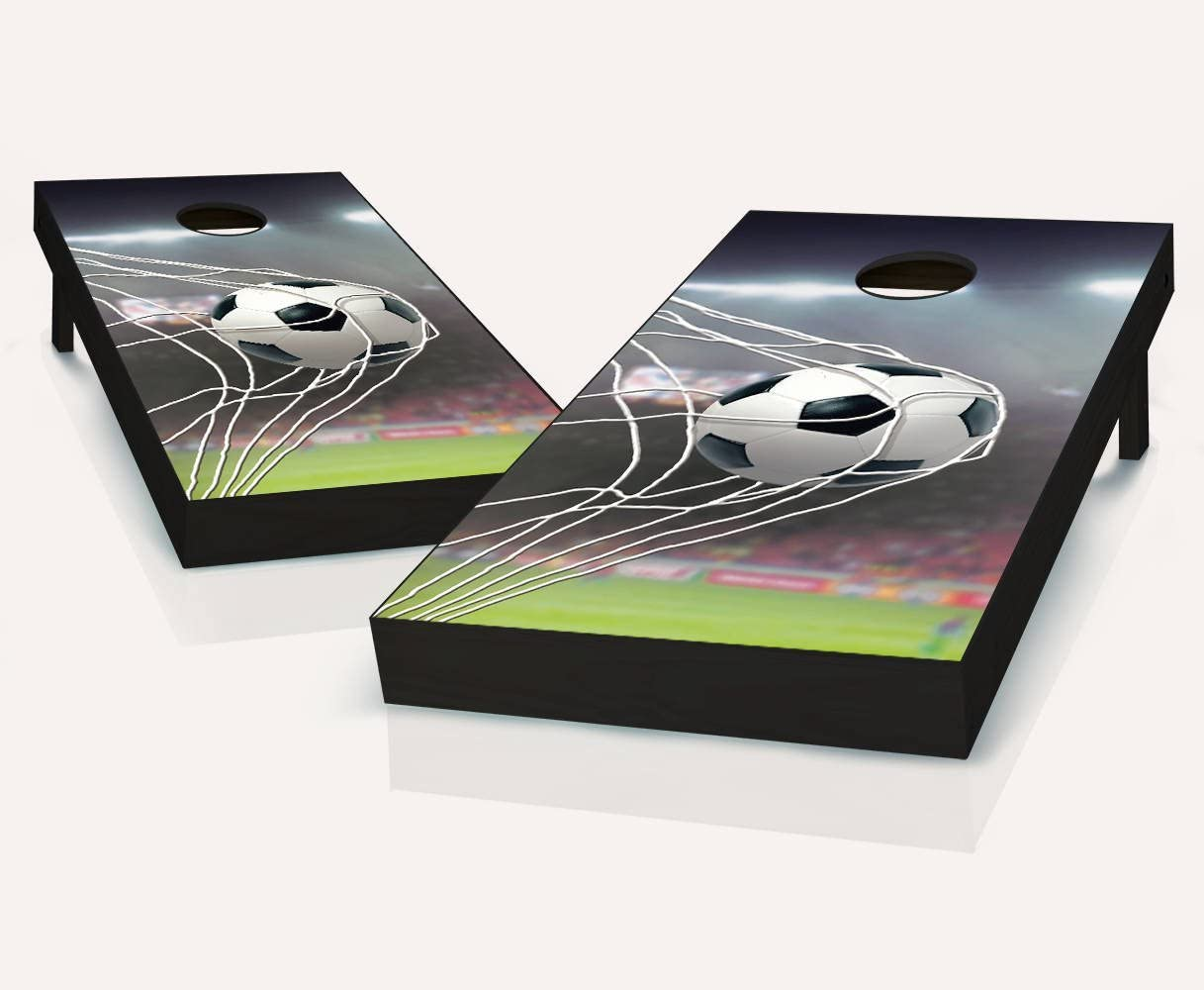 サッカーボールGoal Cornholeボードregulation sizeゲームセットBaggo Bean Bag Toss + 8 ACA Regulation Bags