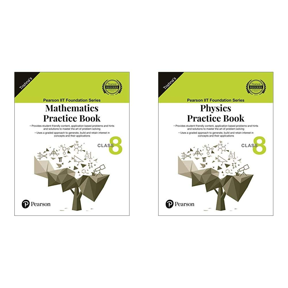 IIT Foundation Series | Mathematics Practice Book | Class 8+IIT Foundation Series | Physics Practice Book | Class 8(Set of 2 Books)