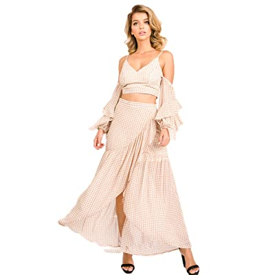 A.Peach Women's 2 Piece Outfits Trendy Set: Clothing