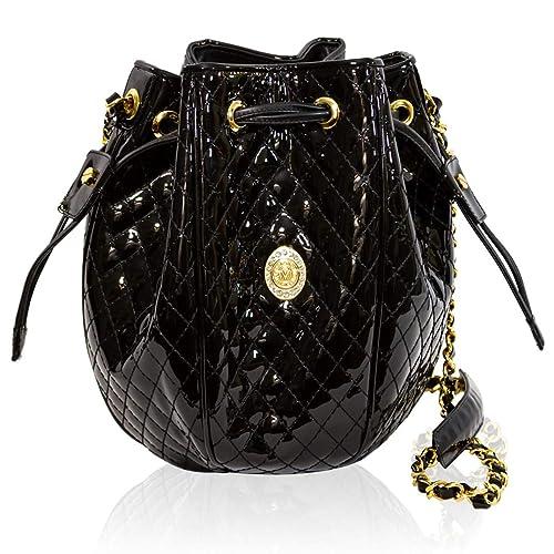 Con Diseño Negro De Cuero Valentino Bolso Lazo Orlandi zMqLUpGSV