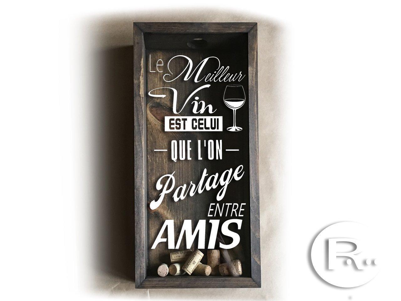 Wine Cork Holder Shadow Box 19 x 9.5 x 3.5