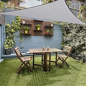 toldo para jardin XUELIEE Gray 10 10 10ft Equilateral Triangle Toldo Para