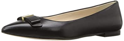 92111037194 Cole Haan Women's Elsie Bow Skimmer Ballet Flat, Black Leather 5 ...
