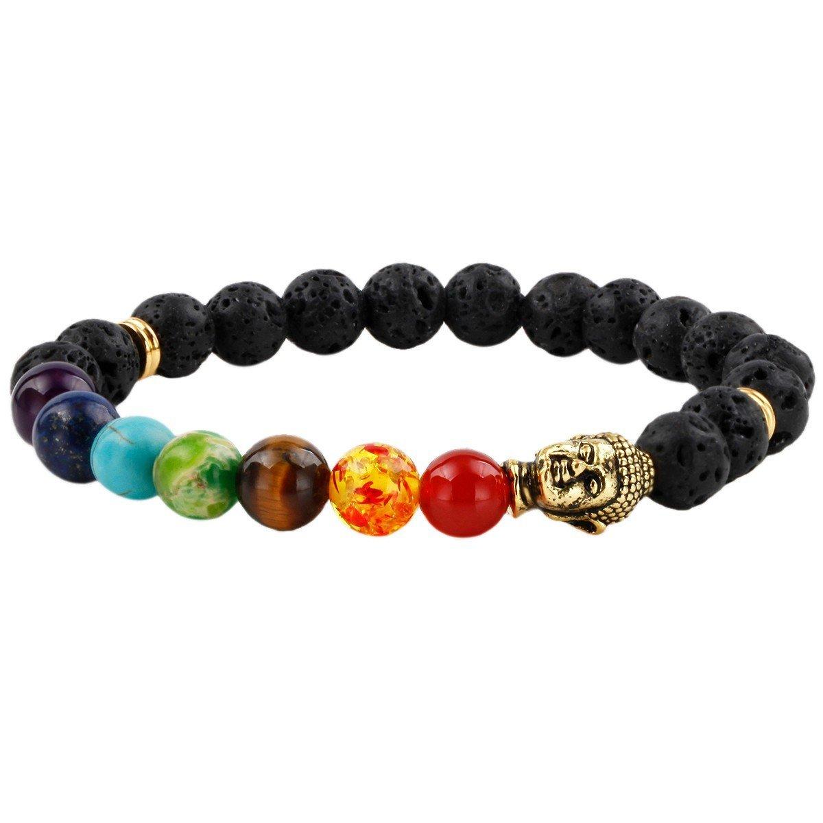 SUNYIK Semi Precious Stone Bracelet, Chakra Ctystal Healing, Balancing Reiki, Yoga Jewelry SUNGDW001106