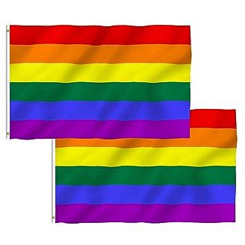 RAINBOW PEACE Gay pride FLAG 5X3 FESTIVAL PARTY FLAGS