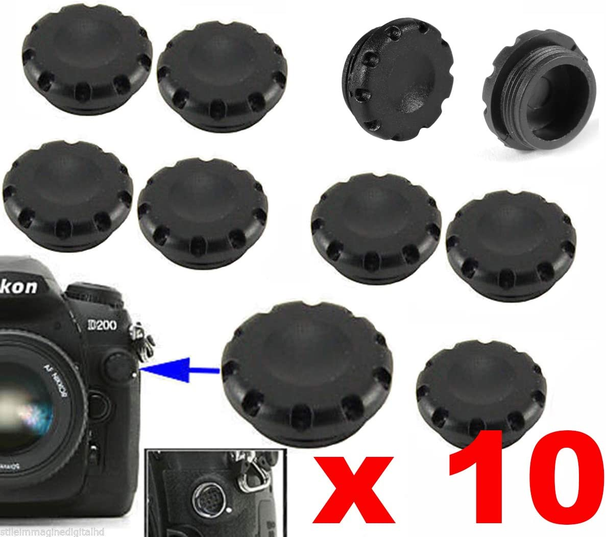 Digital Hd 10 X Schutzkappen Für Kapuze Flash Sync Kamera