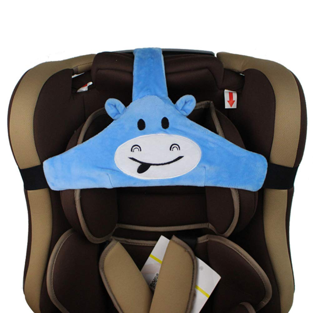 Feelairy Baby Autositz Kopfband Kindersitz Befestigung Kopfband Einstellbare Baby Kopfstützgurt Kopfstützhalter Sicherheitssitz Befestigungsgurt Für Kinder Baby Blau Baby