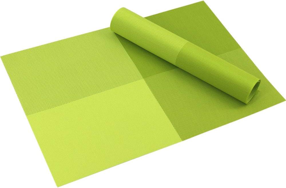 Time to Sparkle Lot de 6 Sets de Table Tapis de Table en Vinyle Antid/érapants Napperons PVC Lavables Sets de Tables Salle /à Manger PVC-Argent
