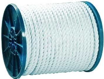 Amazon com: 3-Strand Twisted Nylon Rope Spool (Seachoice