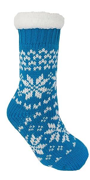 Lora Dora Womens Faux Fur Lined Slipper Socks