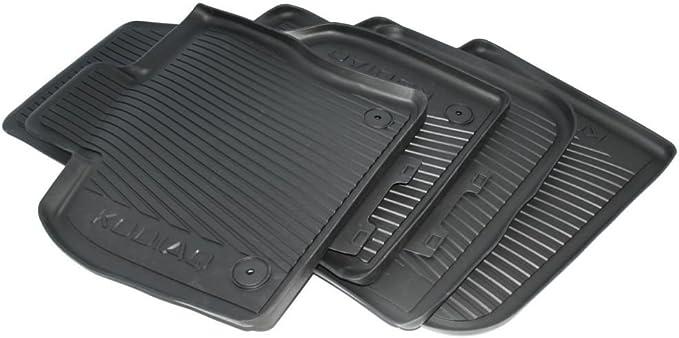 Skoda 566061502 565061512 Gummi Fußmatten Gummimatten Original Allwettermatten 4 Teilig Schwarz Mit Schriftzug Auto