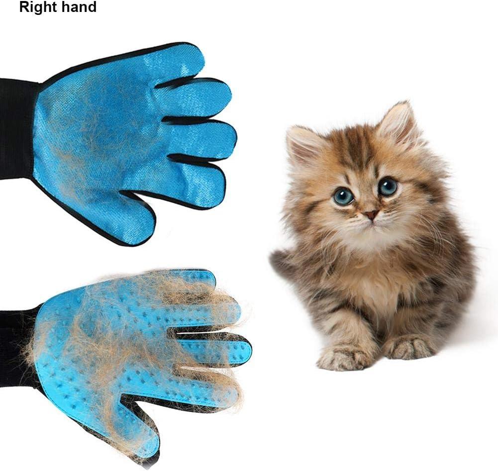 Guantes para Mascotas de Retiro del Pelo Aparato de Masaje Cepillo de Limpieza mágico para Mascotas Baño de Cepillo y Suave Peine para Mascotas con Pelo Largo y Corto Perros Gatos: Amazon.es: