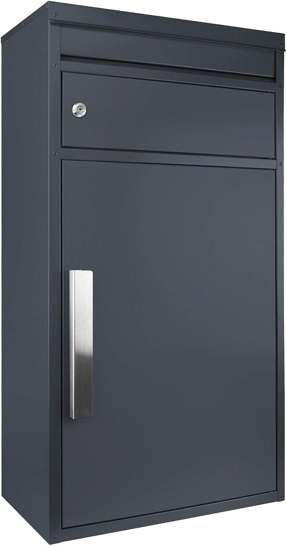 Paketbriefkasten anthrazit-grau Ral 7016 SafePost 65M gro/ßer Standbriefkasten Paketbox Paketkasten Scanprodesign