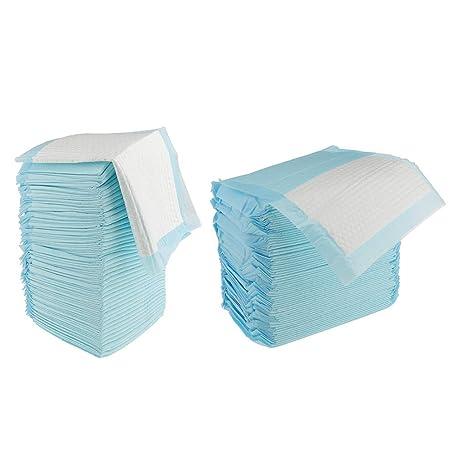 Sharplace 120x Sábanas de Cama Incontinencia Protector de Desechables de color azul