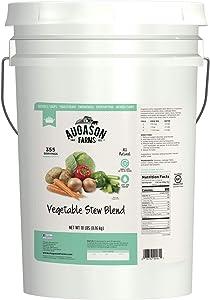 Augason Farms Vegetable Stew Blend 18 Pound Pail