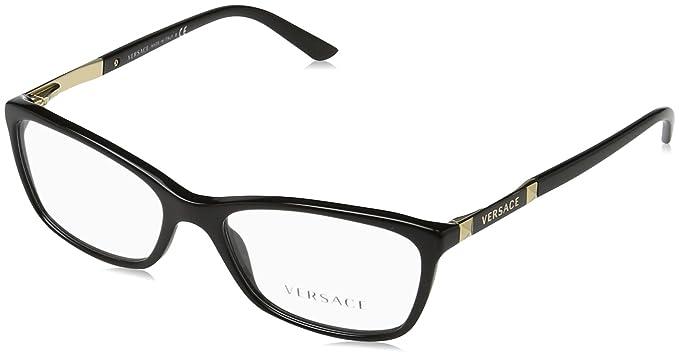 727c19a191422 New Versace VE 3186 GB1  Black Frame Men Women Oval Eyeglasses ...