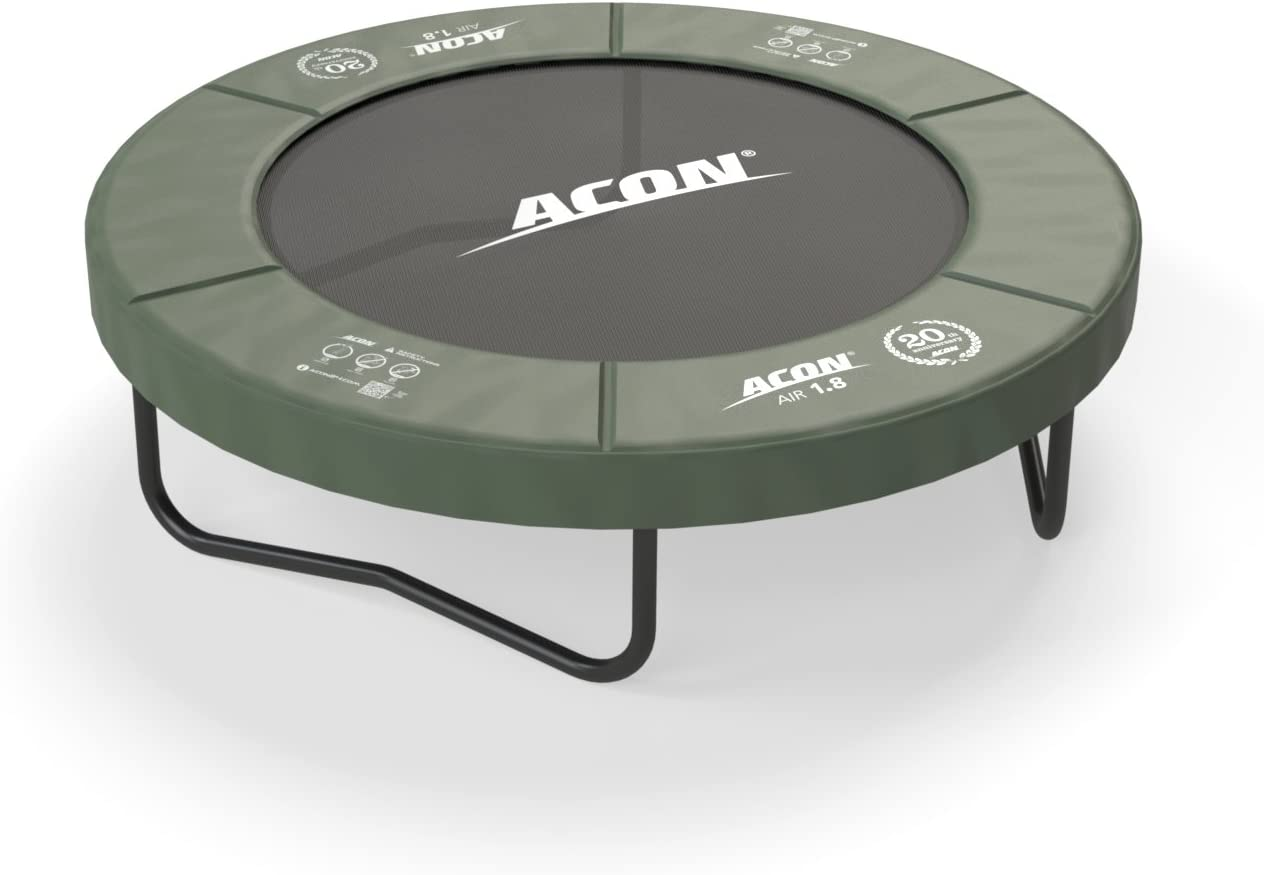 Acon Air 1.8 Fitness or Recreational Trampoline 6ft Fun Exercise for Adults and Kids Both Indoor and Outdoor Use, Year-Around