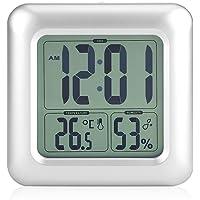 Reloj impermeable digitale reloj silencioso para baño LED