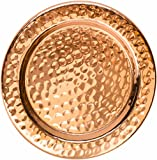 Cheap Solid Copper Coasters – Set of 4 Handcrafted Hammered Artisan Coasters for Copper Mugs (4, Hammered Copper)