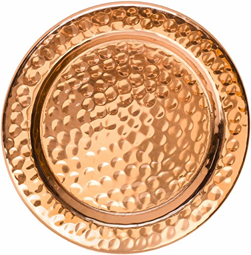 (Solid Copper Coasters - Set of 4 Handcrafted Hammered Artisan Coasters for Copper Mugs (4, Hammered Copper))